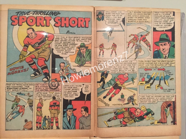 1945 Joe Palooka Comic Book with Howie Morenz #27-2-PAGE 1-2-imp