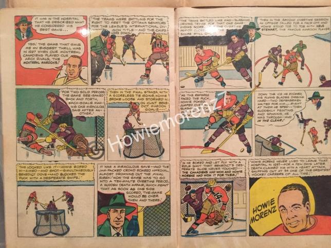 1945 Joe Palooka Comic Book with Howie Morenz #27-1-PAGE 3-4