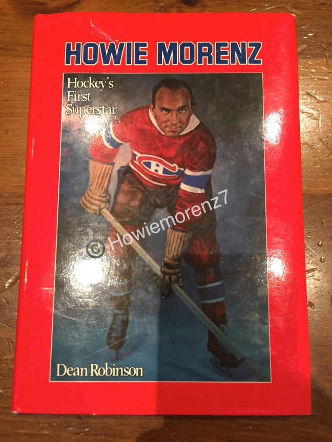 1982 Howie Morenz by Dean Robinson BOOK -imp