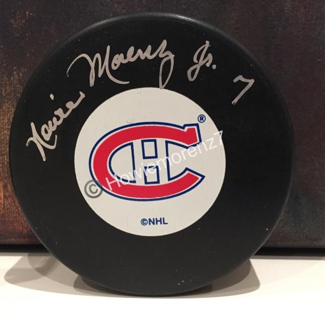 1990s Howie Morenz Jr. Autographed Montreal Canadiens Puck w: COA -imp